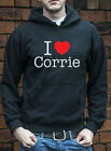 I love Corrie Hoodie Jumper TV soap funny cult retro Hoody C0048