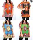 LADIES SUMMER BLOUSE BEACH WEAR SCARF PRINT TOP TUNIC SHIRT MINI DRESS KAFTAN