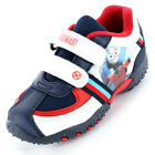 Boys Size 4 - 10 White Blue THOMAS THE TANK ENGINE Velcro Trainers Shoes