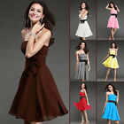 Hot Homecoming Formal Bridesmaid Cocktail Gown Ball Evening Stock Prom Dress Top