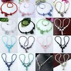 Faceted Crystal Glass Rondelle Beads Necklace Strand Women Fashion Jewelry