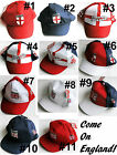 England Baseball Cap Hat Mens Boys Red White Blue Great Britain Flag World Cup