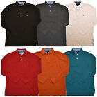 Tommy Hilfiger Long Sleeve Polo Shirt Mens Solid Casual L/s Black White Th V268