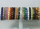 "8mm Natural Stone Gemstone Round Bead Stretchy Bracelet 7.5"",Pick Stone!"