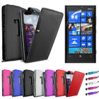 LEATHER FLIP CASE COVER FITS NOKIA LUMIA 920 + SCREEN PROTECTOR