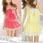 Sexy Women's Off Shoulder Sleeveless Cocktail Chest Wrap Mini Dress SG1481