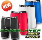 Men Boys PowerLayer Compression Base Layer Under Thermal Shorts Sport Skins