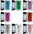 GLITTER Bling iPod Touch 4th Generation Case Keep Calm and Ride On Horse