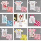 "2 Pcs NWT Vaenait Baby Toddler Kid Girls Summer Outfits Homewear ""Girls Party"""