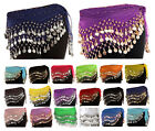 3 Rows Belly Dance Hip Scarf Wrap Belt Dancer Skirt Costume 15 Colours Available