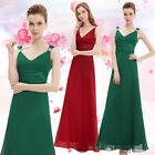 Ladies Hot Long Maxi Evening Formal Bridesmaid Party Dress Blue Green Red 09601