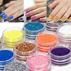 18 Colors Nail Art Glitter Powder Dust For UV GEL Acrylic Powder Decoration Tips