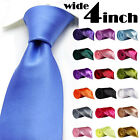 New Italian Satin Wedding Party Evening Office Formal Normal Neck Tie Necktie