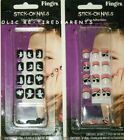 HALLOWEEN - ARTIFICIAL NAILS – STICK-ONS - GIRLS - BATS - GHOSTS or PIRATES –NIP