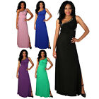 Womens New Diamante Ladies One Shoulder Evening Backless Maxi Dress Size 8-16