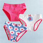 "3 Pcs NEW Vaenait Baby Toddler Kids Girl Underwear Briefs Pantie Set ""Daisy"""