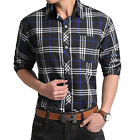 ST139-42 New Mens Luxury Casual Slim Fit Plaids & Checks Dress Shirts