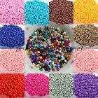 1000pcs Cezch Glass Seed Spacer Beads Jewelry Finding Solid Color DIY Bead