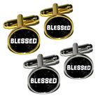 Blessed Distressed - Christian Religious Inspirational Round Cufflink Set