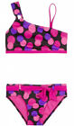 NWT Justice Girls Black Multi Dot Asymmetrical Bikini Swimsuit U Pick Size! NEW