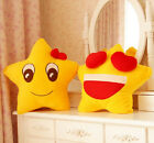 Birthday gift plush toy happy yellow star doll lover cushion holding pillow 1pc