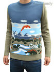 Dinosaur Jumper Mens vtg indie retro nerd pre-historic novelty kitsch 80's 70s