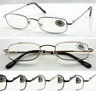 (R45G)2 Pairs Metal Frame Reading Glasses+2.0+2.5+2.75+3.0+3.25+3.5+3.75+4/Sping