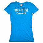 Hollister Womens Tshirt Tee Graphic Division 19 xs Blue New Bettys V095