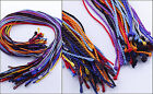"Mixed Braided Korean Silk Thread Cord String Necklace 18""L 10/20/50/75/100pcs"