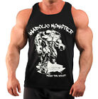 ANABOLIC MONSTER  BODYBUILDING VEST WORKOUT  GYM CLOTHING BLACK