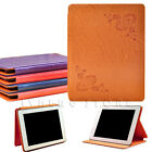 For The New Apple ipad 2/3/4 Retro Floral Design Fashion And Simple Stand Case