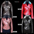 Ladies 'Emily' Biker Style Fashion Removable Fur Collar Real Soft Leather Jacket