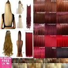 24'' High Heat Resistant One Piece Hair Extension Curly & Straight feels real