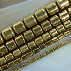 "Golden Hematite Drum Spacer Beads 16"" 2mm 4mm 6mm 8mm 10mm Pick"