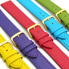 Genuine Leather Watch Strap Band Choice of Bright Colours FREE UK Post!