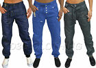 New Mens G Funk Coated Blue Cuffed Jeans Designer Funky Tapered Leg Stylish