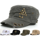 women Cadet Military Army Cap Visor Trucker Distressed Vintage Look hats ccj1