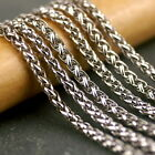 4ft Vintage Style Chain Silver Plated Wheat Rope Chain 3.5mm c204