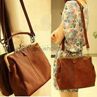 Fashion Retro Vintage Ladies Shoulder Purse Handbag Totes PU Leather Women Bag