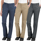 Women's Pants Dickies Relaxed Fit Flat Front Pant FP322 Navy Charcoal Gray Khaki