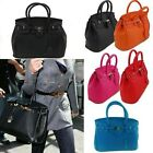 2013 Fashion Women Celebrity PU Leather Tote Handbag Lock Shoulder Satchel Bag
