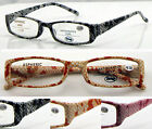 R12 Snake Skin Pattern Design Reading Glasses Spring Hinge/Super Fashion Classic
