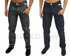 Mens Designer Branded Twisted Faith Chinos Jeans Carrot Fit Tapered Leg Pants