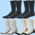 WOLVERINE SOCKS 2 Pairs Cotton WORK CREW Mid Calf fit L, XL White Black Navy