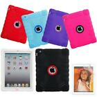 Pen+Concentric Rings Silicone Protective Case for iPad 2/3/4 +Screen Protector