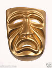 Tragedy Mask Frown Gold Molded Plastic 10473