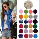 170x92cm Women's Cotton 25 Candy Folds Crinkle Long Soft Scarf Wrap Shawl Stole