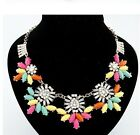 New Arrive Hot Selling  Fashion  Metal Crystal Rhinestone Bib Necklace A1671a