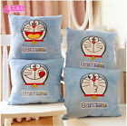 cute Doraemon pillow cartoon expression square cushion plush toy lovely gift 1pc