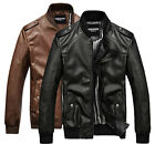 P225 New Mens Slim Fit Fashion Top Designed Faux Leather Jackets Coats 2 Colors